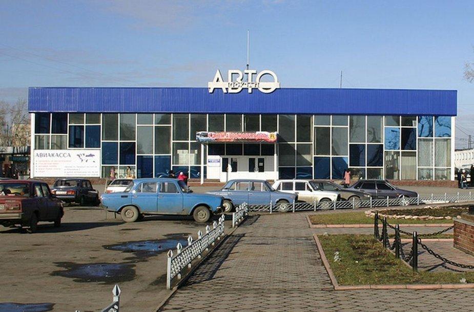 Belovo autobusų stotis netoli Kemerovo (Rusija)