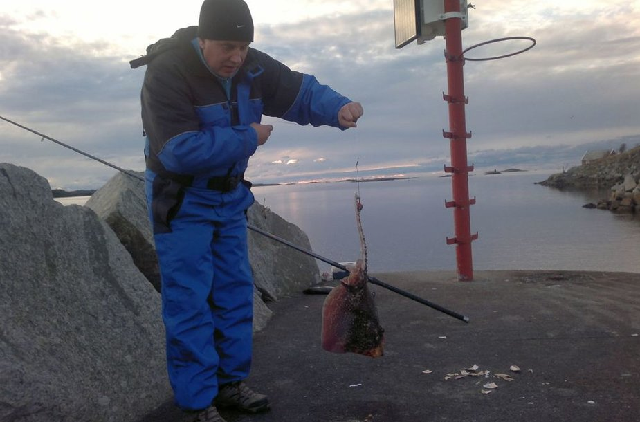 Arūno 75 cm raja, sugauta prie Bergeno