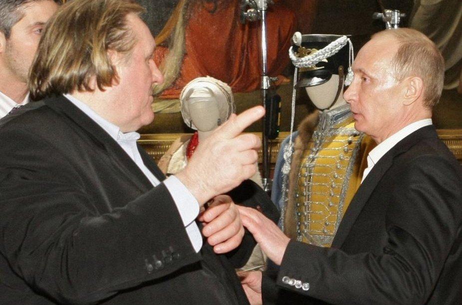 Gerard'as Depardieu ir Vladimiras Putinas (2010)