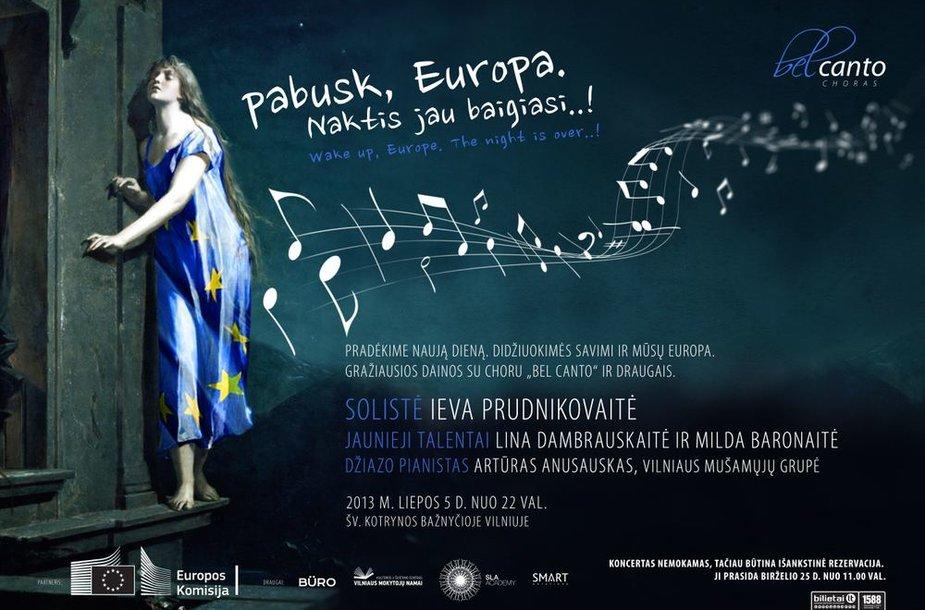 """Choras """"Bel Canto"""" Lietuvos pirmininkavimo ES pradžią pažymės įspūdingu koncertu"""