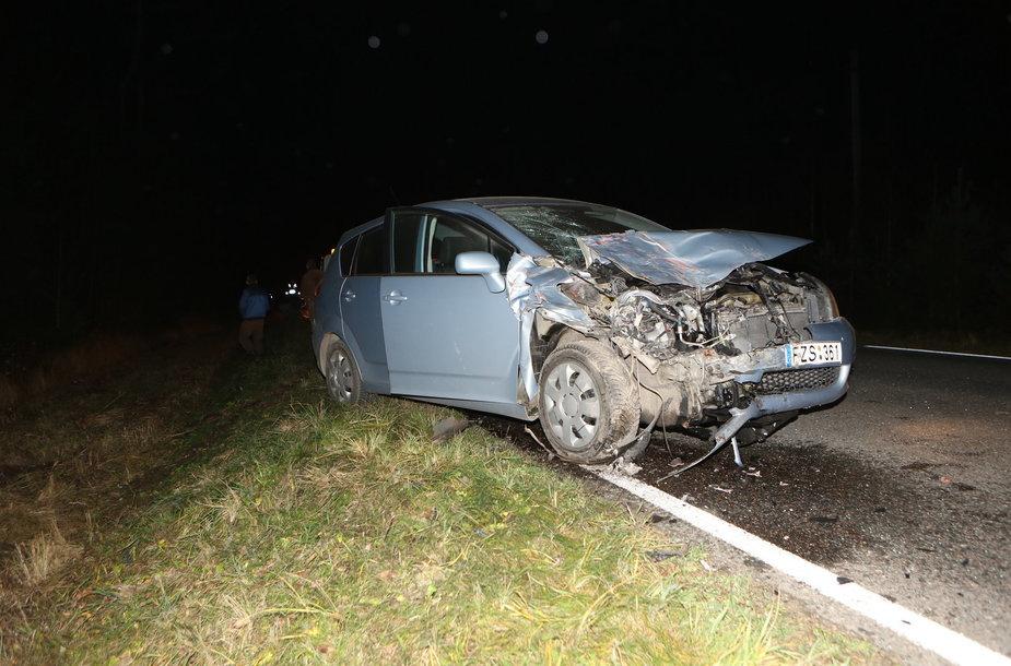 Vakaro avarija kelyje Tauragė-Jurbarkas 2014 m. lapkričio 13 d.