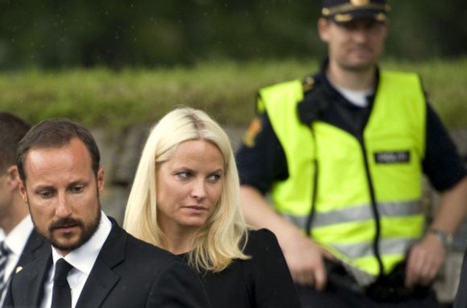 Gedulas: Norvegijos princesė Mette Marit ir princas Haakonas