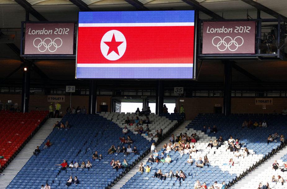 Olimpiados organizatoriai tik antru bandymu sugebėjo parodyti tinkamą vėliavą.