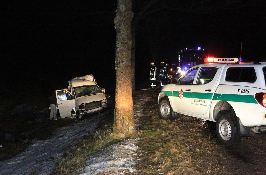 Tragiška avarija Tauragės rajone