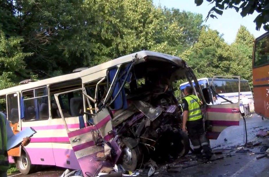 Autobusų avarija Ukrainoje