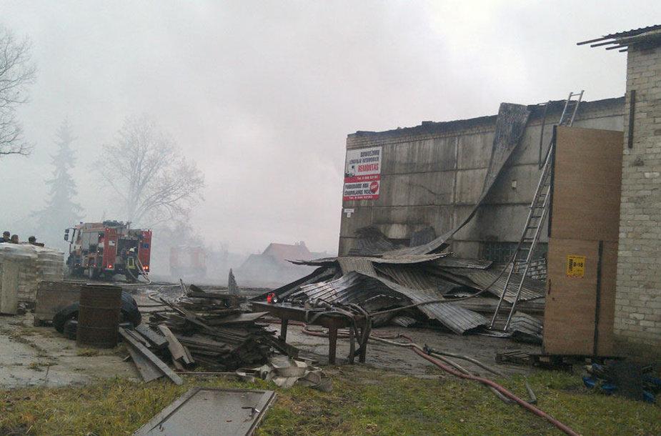 Gaisras Marijampolės savivaldybėje