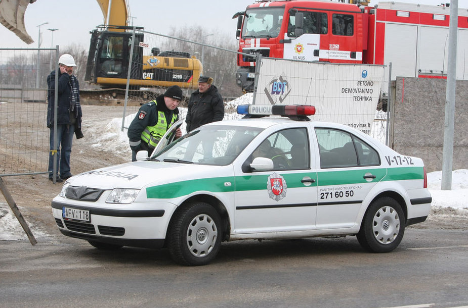 Statybose Vilniuje rastas sprogmuo