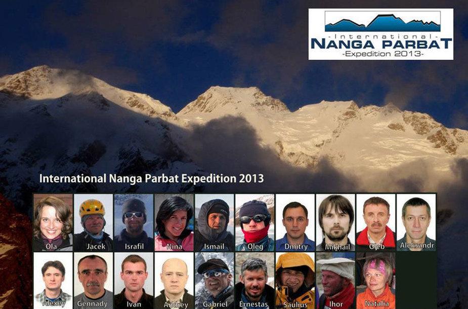 Į Nanga Parbat kopsiantys tarptautinės ekspedicijos nariai