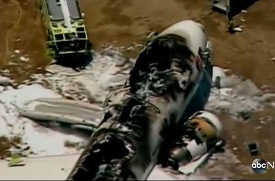 San Francisko oro uoste sudužęs lėktuvas