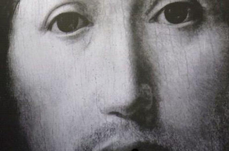 "Scena is Romeo Castellucci spektaklio ""Apie Dievo Sūnaus veido koncepciją""."