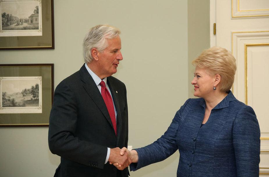 Michaelis Barnier ir Dalia Grybauskaitė