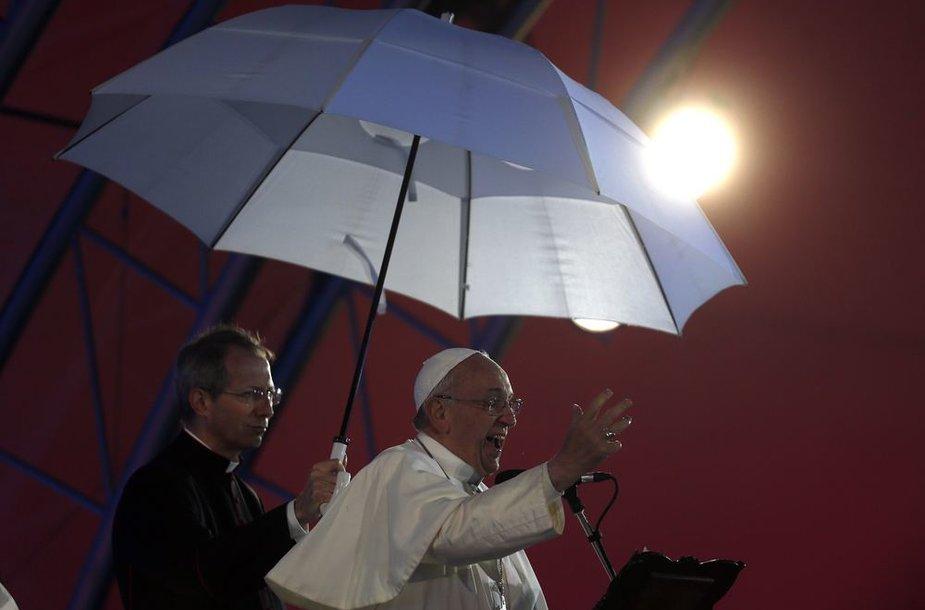 Popiežius Pranciškus Kopakobanos paplūdimyje