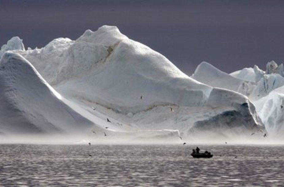 Tirpstantys Grenlandijos fiordai
