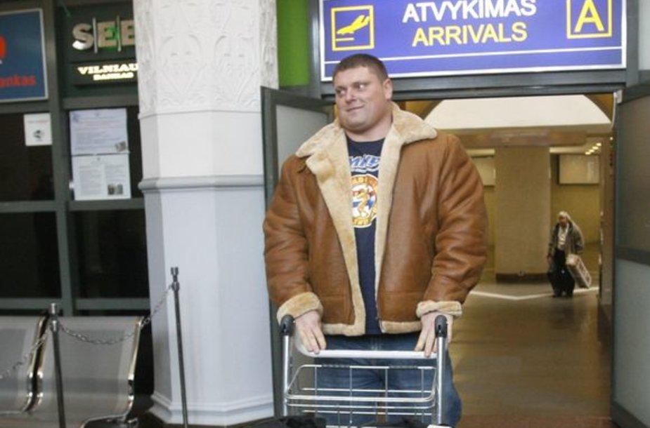 """Ž.Savickas pasirengęs kitais metais vėl startuoti """"Arnold's Strongman"""" turnyre."""