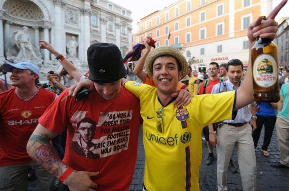 Romoje incidentų tarp abiejų komandų sirgalių gali padaugėti po rungtynių