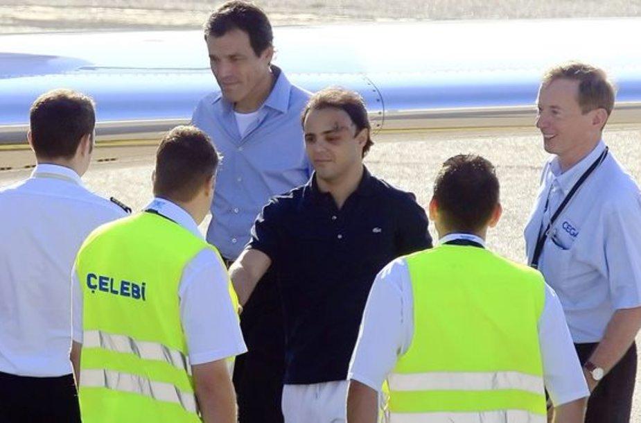 F.Massa prieš skrydį į San Paulą