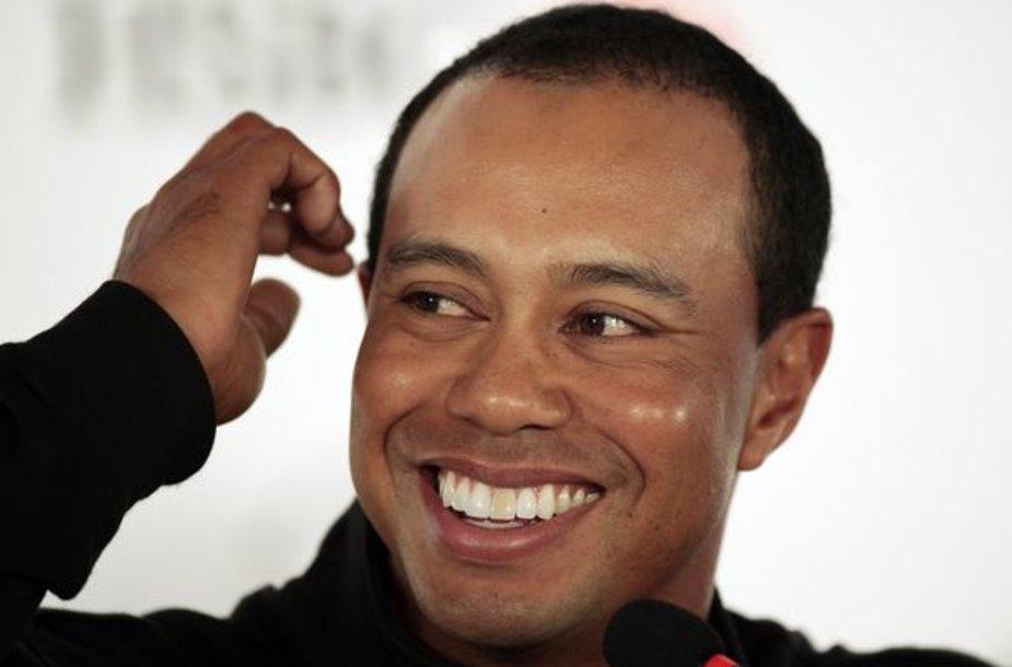 T.Woodsas dėl avarijoje patirtų žaizdų nutarė nedalyvauti turnyruose