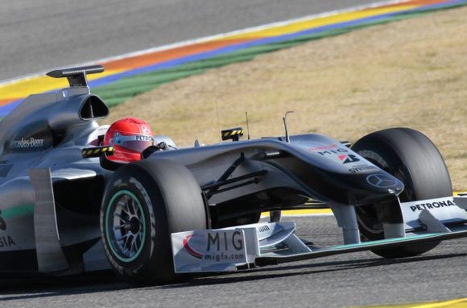 M.Schumacheris nėra visiškai patenkintas bolidu