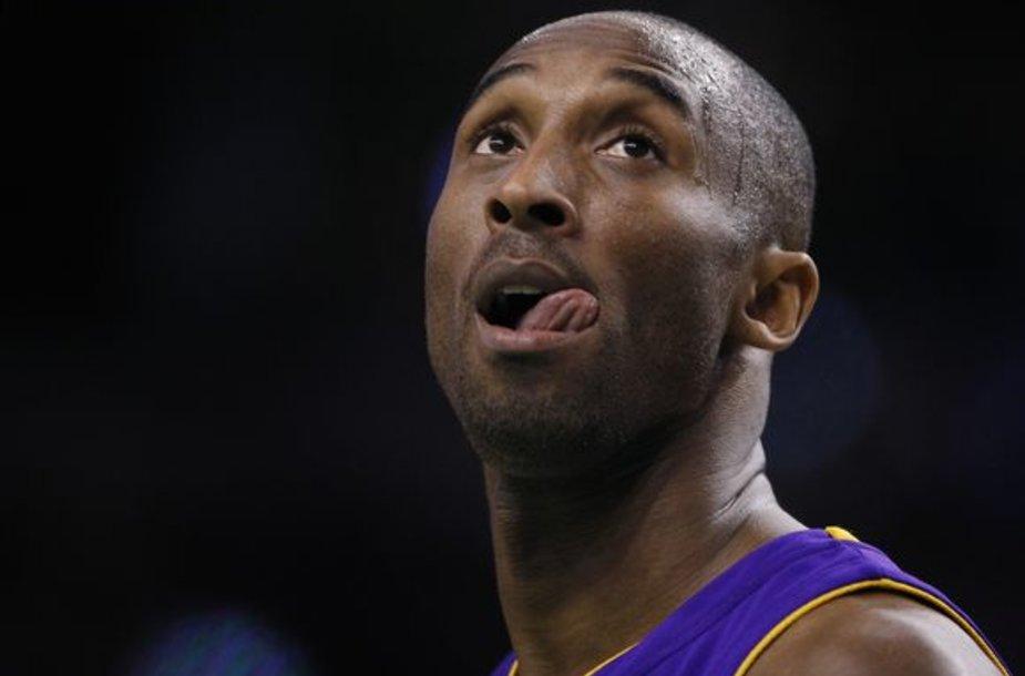 """K.Bryantas dėl traumos nedalyvaus NBA """"Žvaigždžių"""" rungtynėse"""