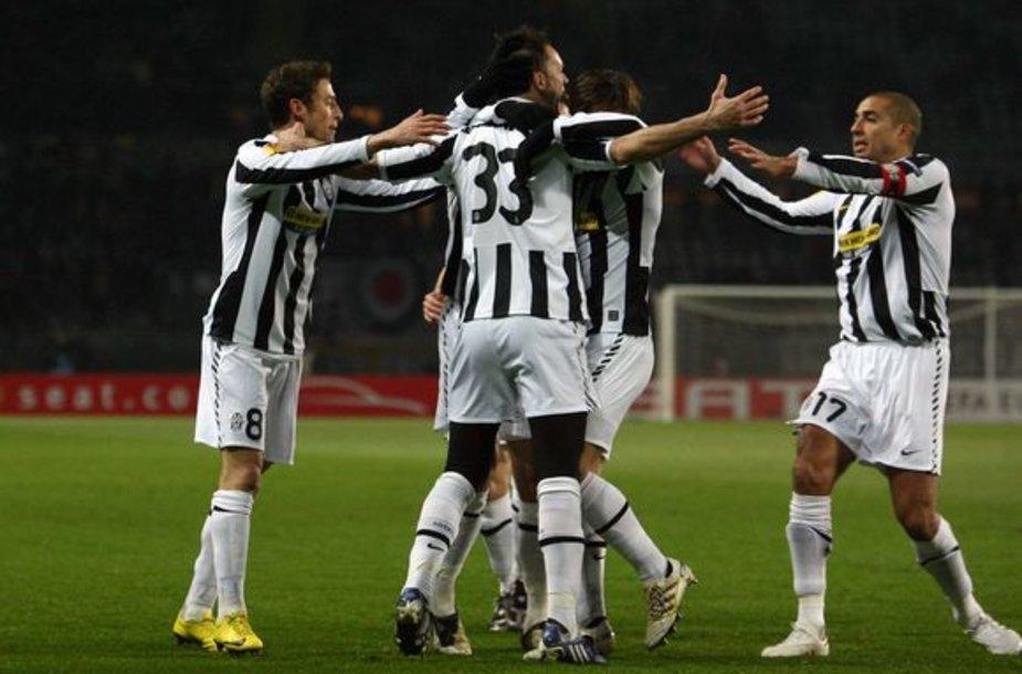 Turino komanda šventė pergalę