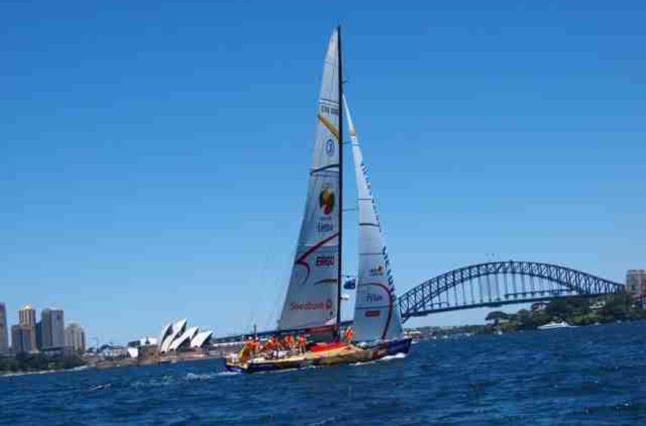 """""""Ambersail"""" Sidnėjuje iš karto atkreipė žmonių dėmesį."""