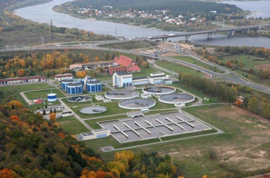 Kauno vandenvalos įmonės vaizdas iš oro