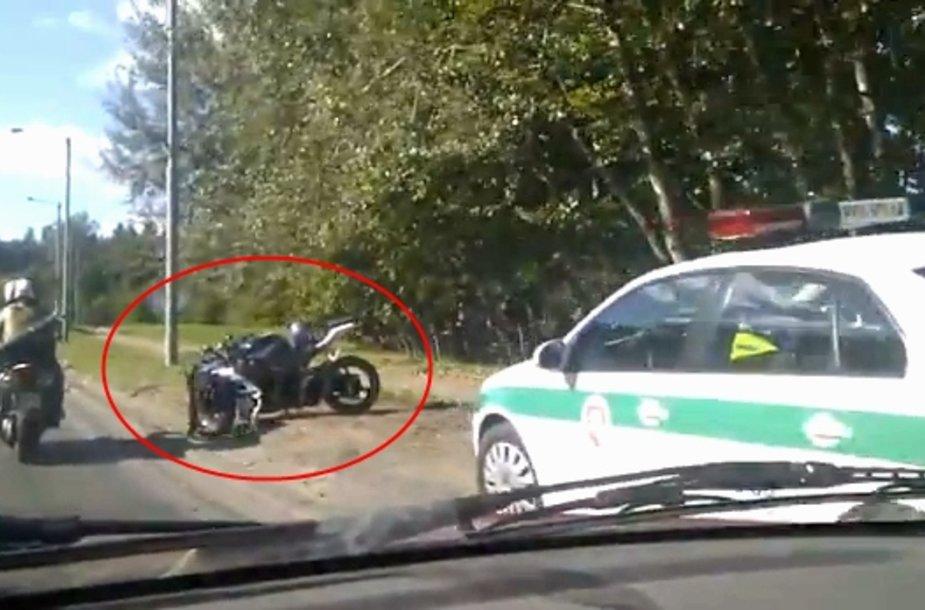 Sudaužytas motociklas