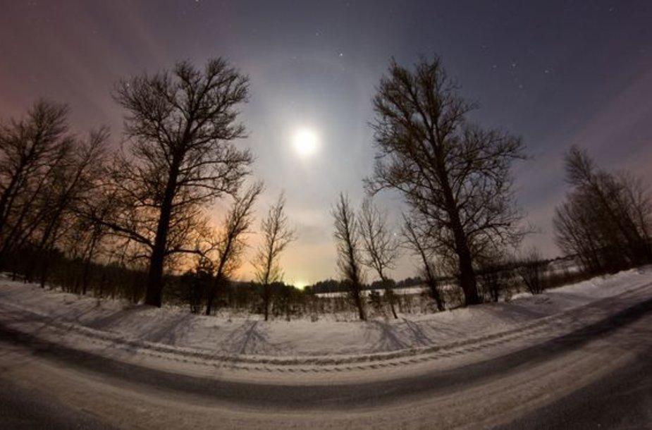 Viena šalčiausių šios žiemos naktų Vilniaus apylinkėse.