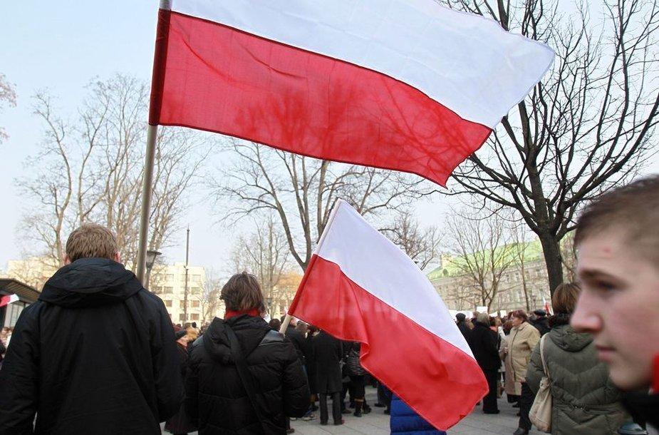 Lenkų protesto akcija Vilniuje