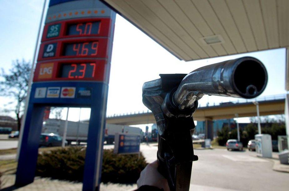 "Benzino kaina ""Statoil"" degalinėje"