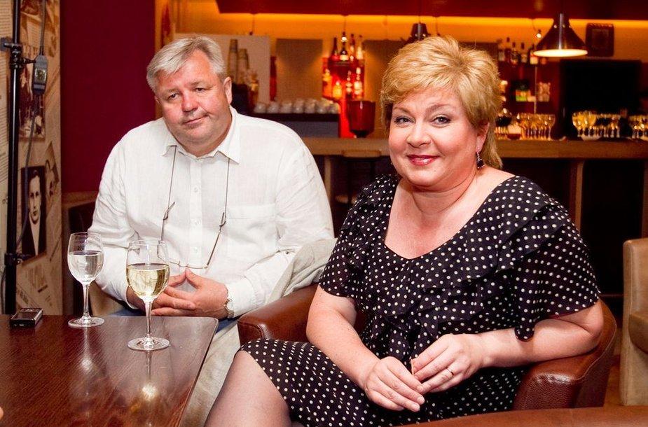 Edita Mildažytė su vyru Gintautu Vyšniausku