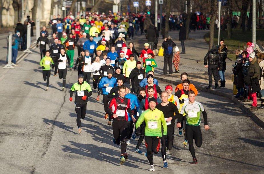 Bėgimo dalyviai.