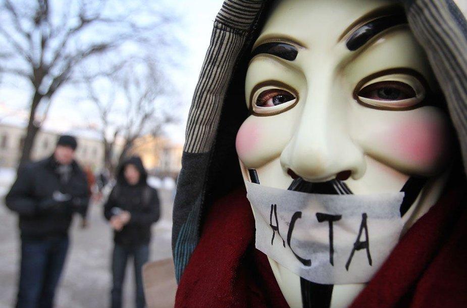 Protestai dėl ACTA sutarties praeitais metais vyko ir Lietuvoje