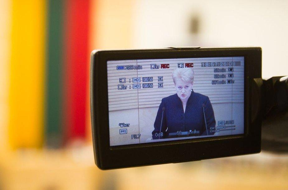 Dalios Grybauskaitės metinis pranešimas
