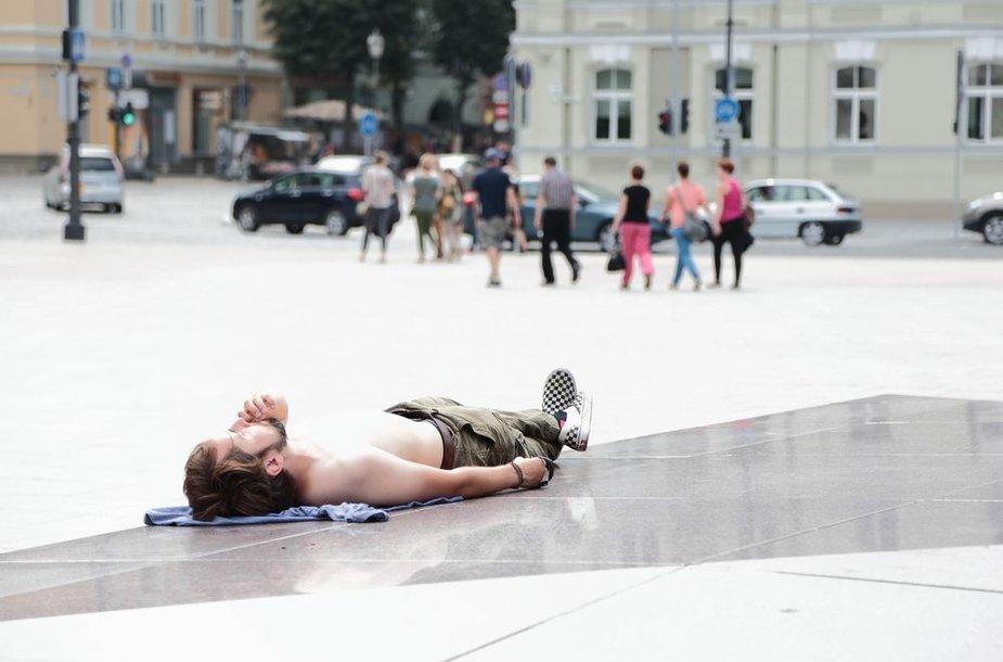 Vasarą gyvenimo tempas sulėtėja net ir Vilniuje