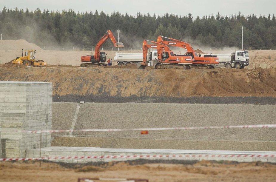 Būsimosios Baltarusijos atominės elektrinės vietoje.