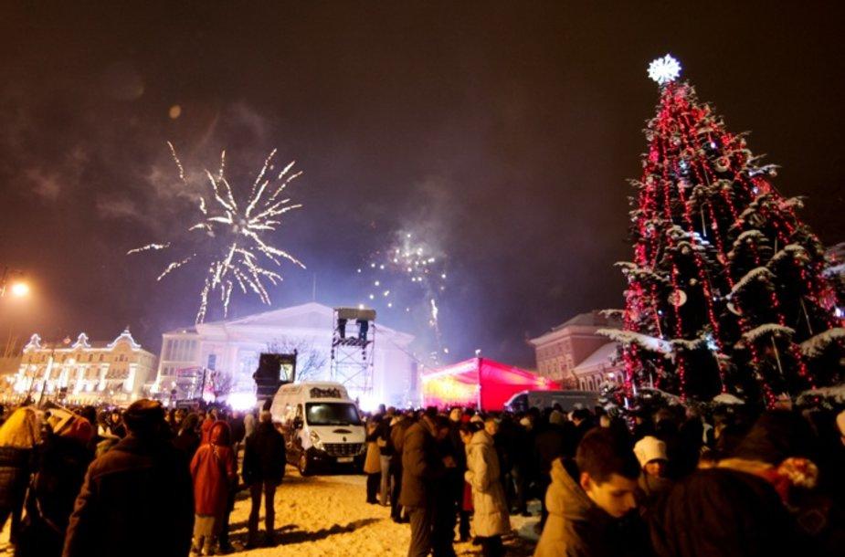 Šventiniu koncertu sostinė sutiko Naujuosius metus
