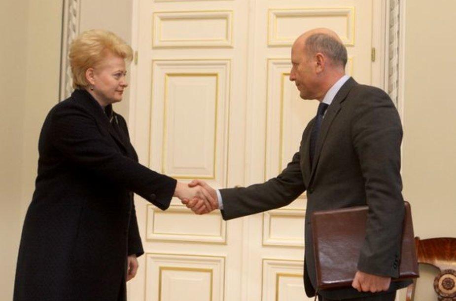 Policijos generalinis komisaras Vizgirdas Telyčėnas ir vidaus reikalų ministras Raimundas Palaitis