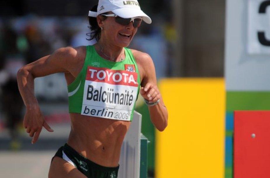 Ž.Balčiūnaitės ir R.Kergytės bėgimas maratone