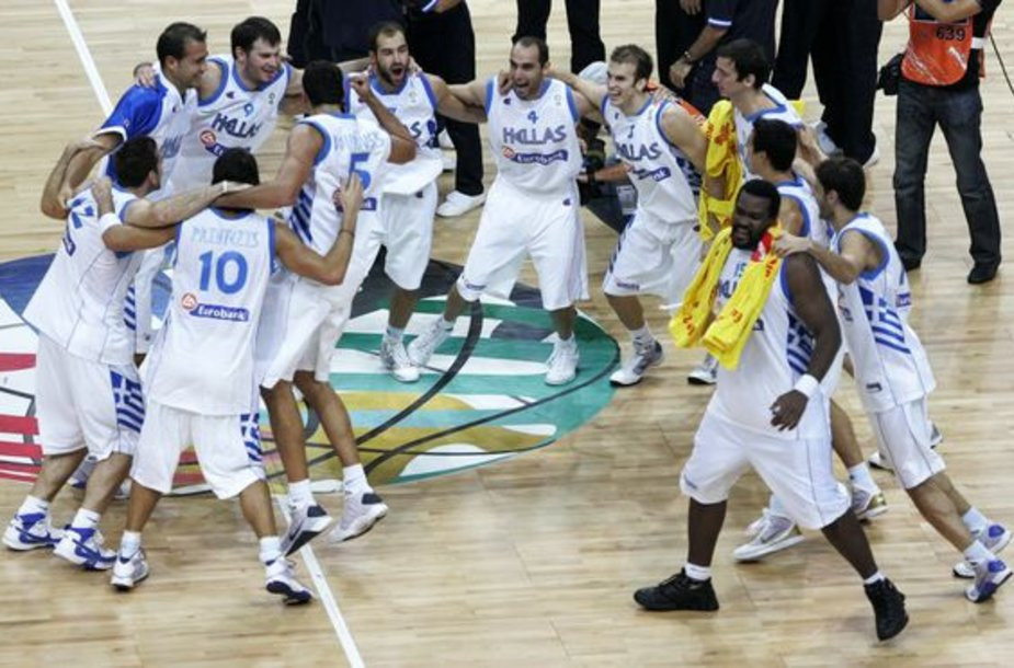 Graikijos rinktinės pergalės šokis