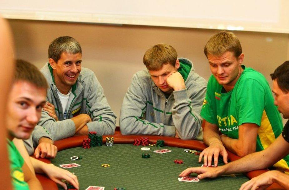 Pokerio turnyro akimirka