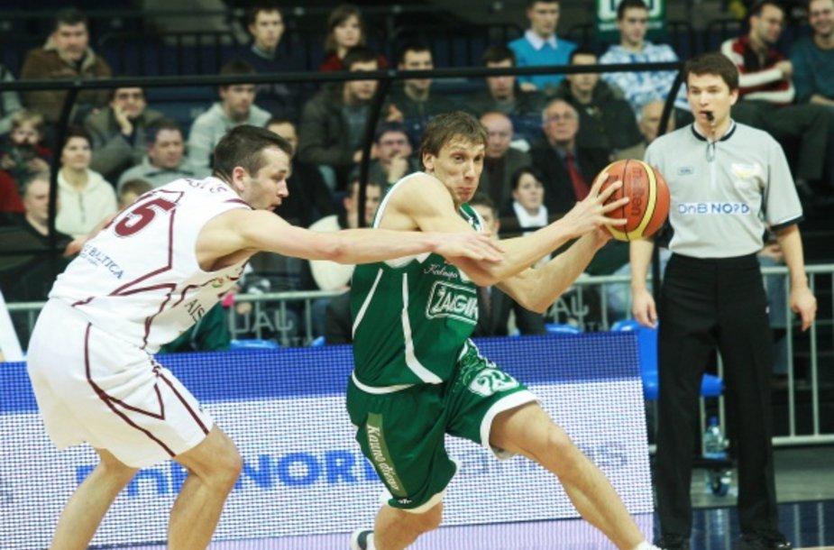 """Antrasis LKL taurės pusfinalis: Kauno """"Žalgiris"""" – Kauno """"Aisčiai"""", (2009.01.23, Panevėžys)"""