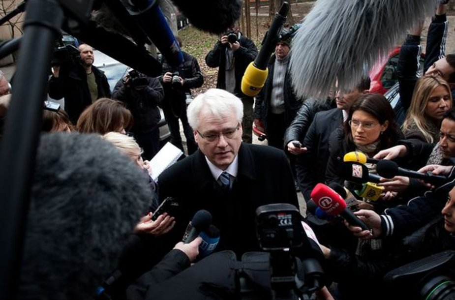 Kroatijos prezidentas Ivo Josipovičius balsuoje referendume