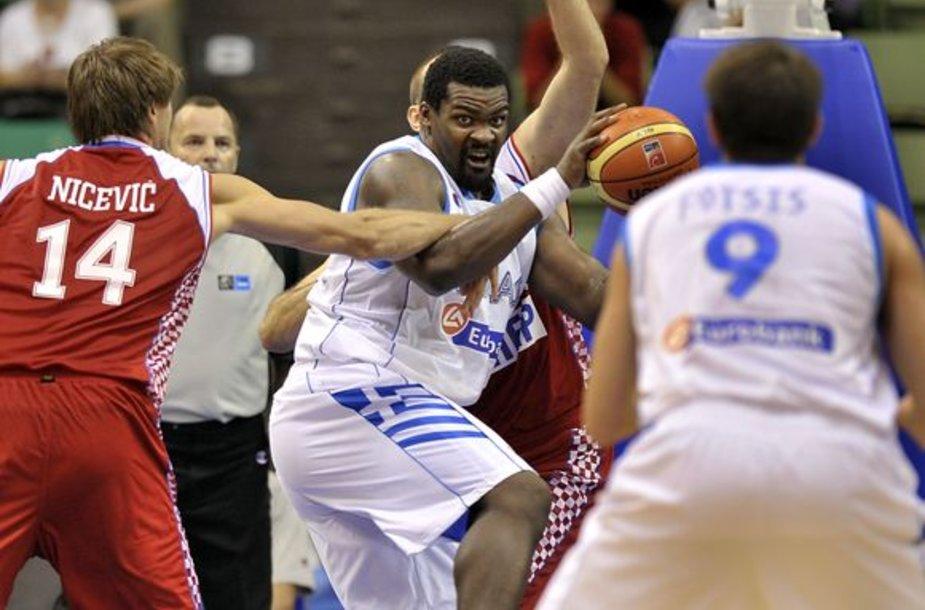 Graikijos ir Kroatijos krepšininkų kova