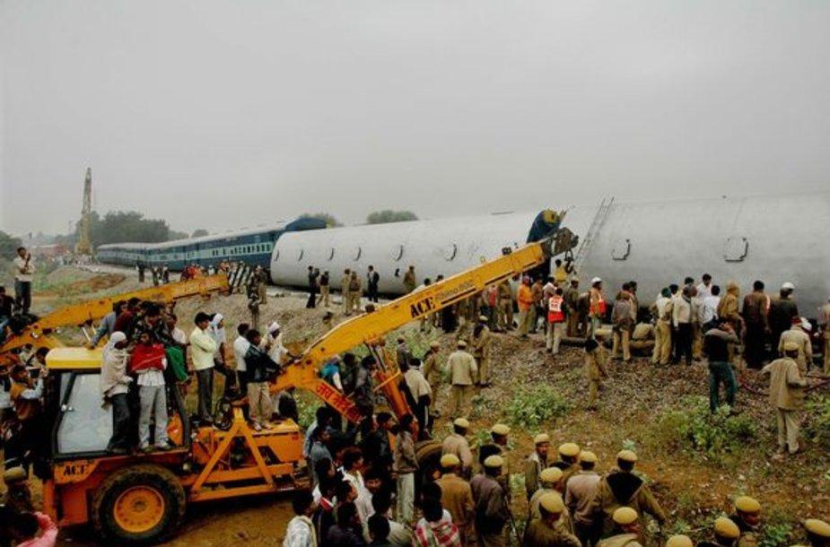 Traukinio avarija Indijoje