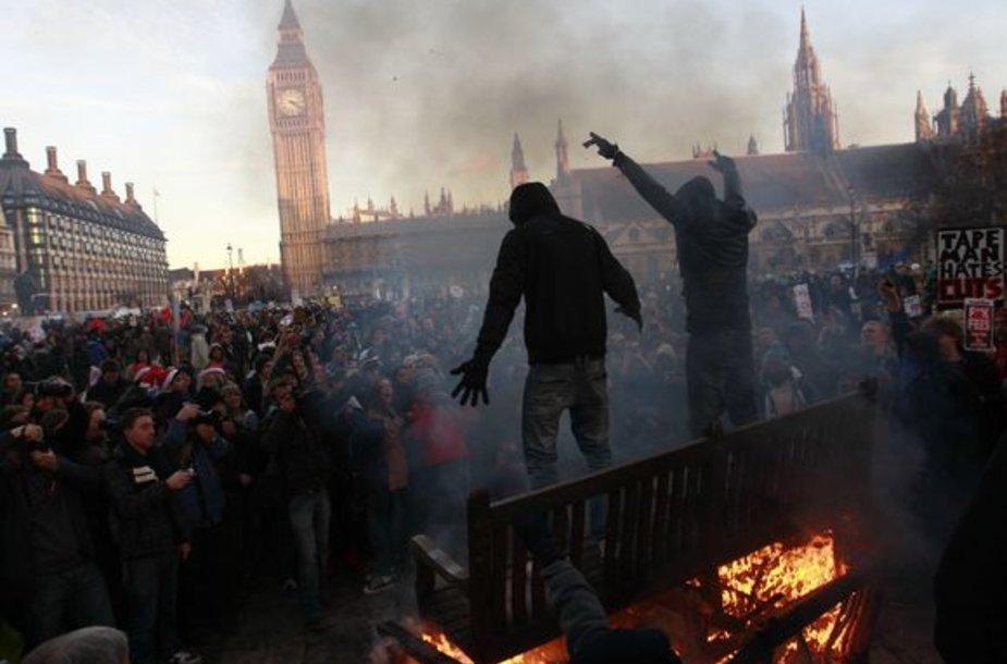 Protesto akcijos akimirka