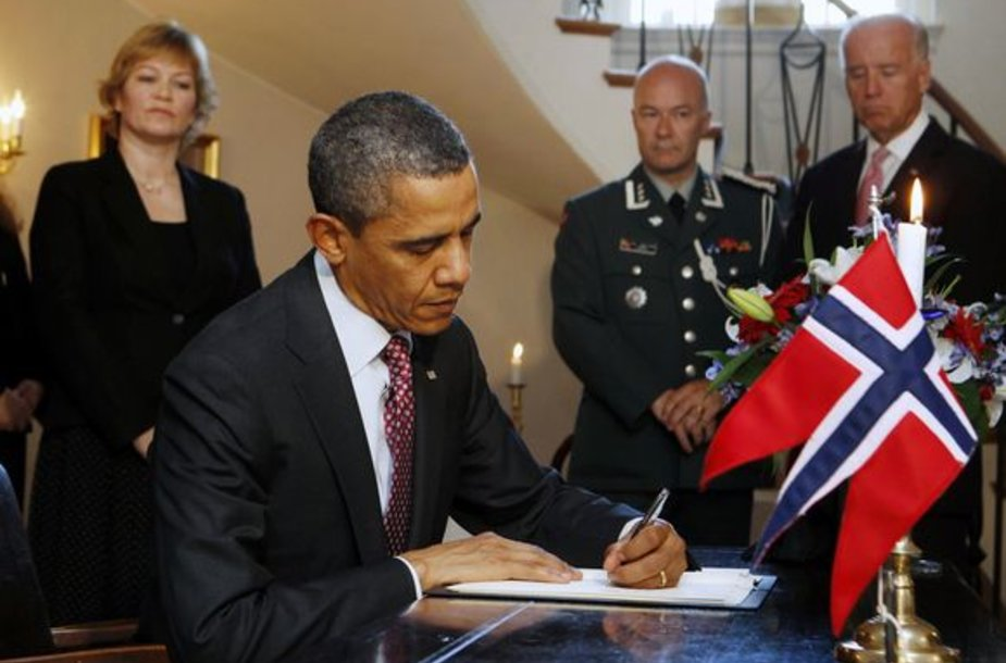 Barackas Obama Norvegijos ambasadoje