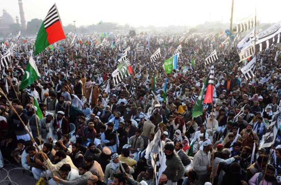 Protestuotojai Pakistane