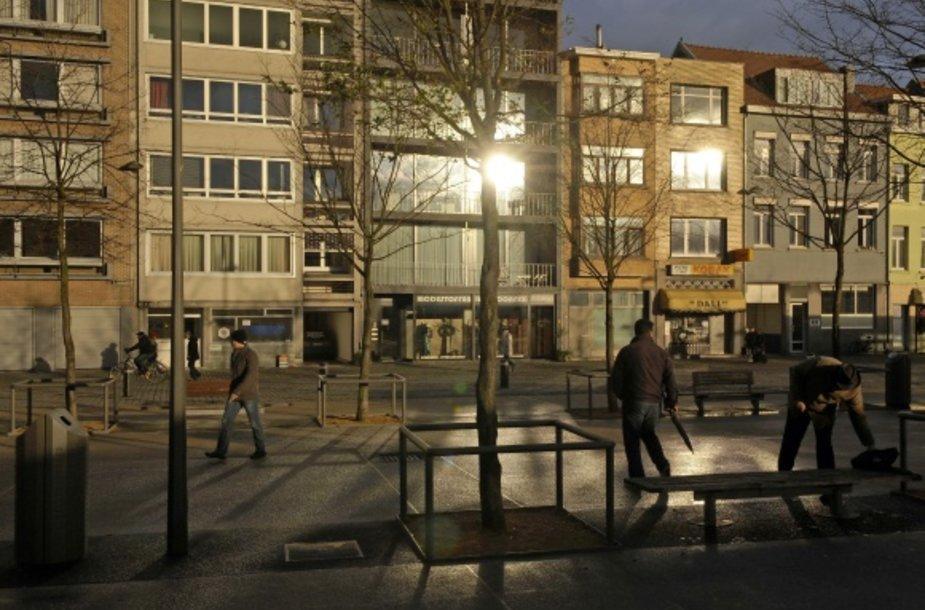 Šioje Antverpeno (Belgija) vietoje suimti išpuolį planavę čečėnų ekstremistai