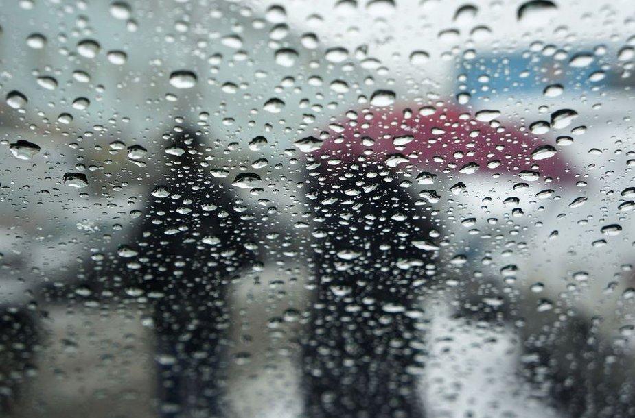 Vaizdas pro automobilio langą Kazachstane